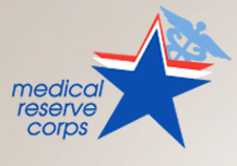Medical Reserve Corps. Logo hyperlink to Volunteering